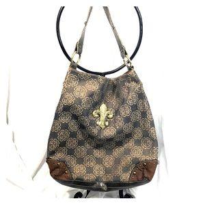 Brown & Gold  Kathy Van Zeeland Shoulder Bag
